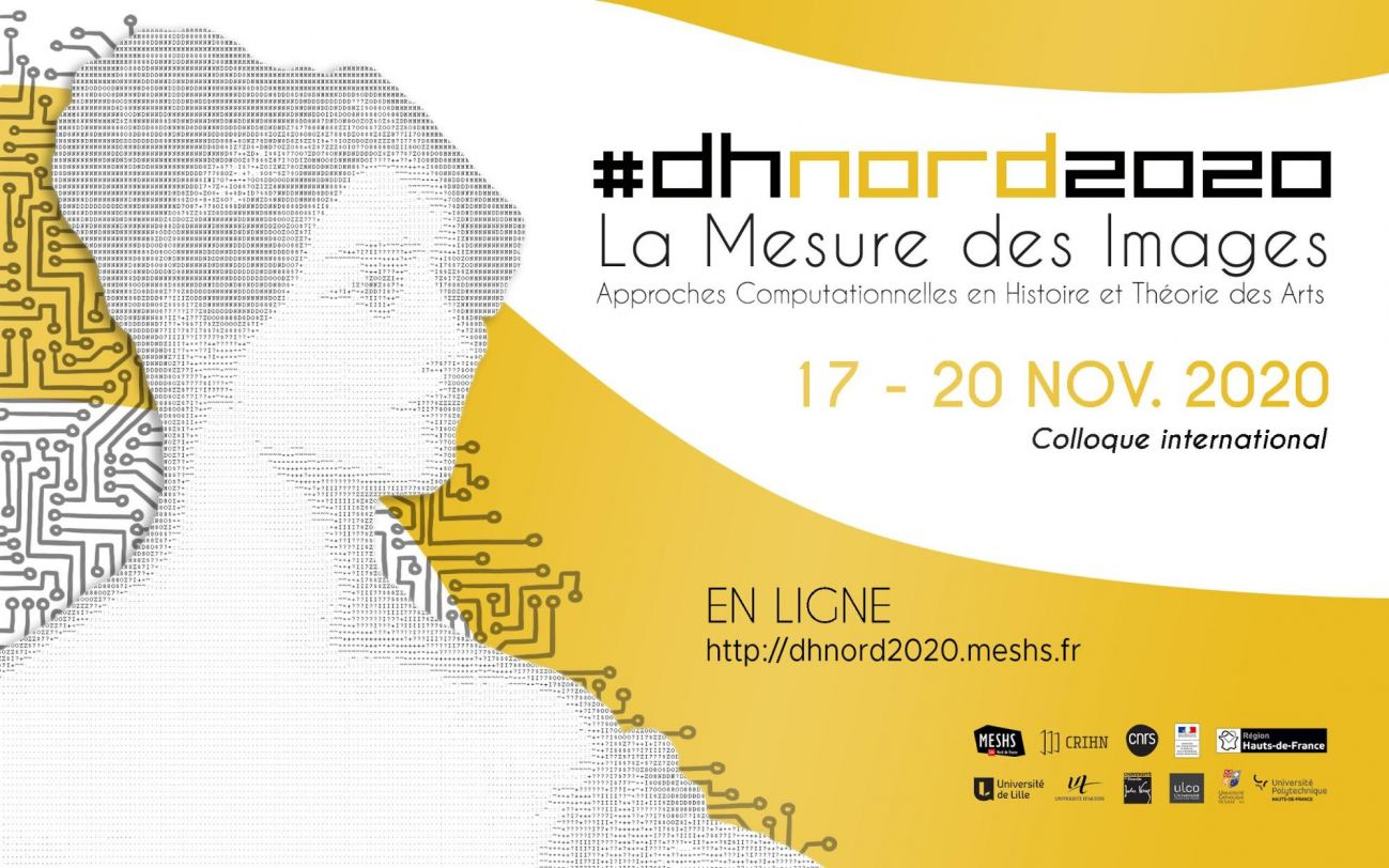 Affiche du colloque #dhnord2020, MESHS, 2020 (version française)